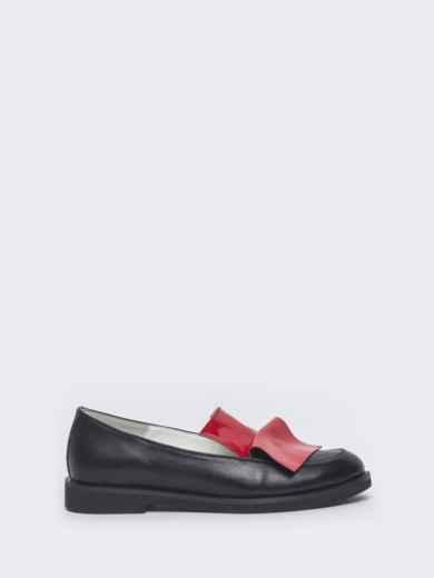 Чёрные туфли на плоской подошве 47515, фото 4