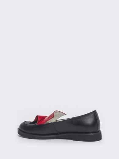 Чёрные туфли на плоской подошве 47515, фото 5