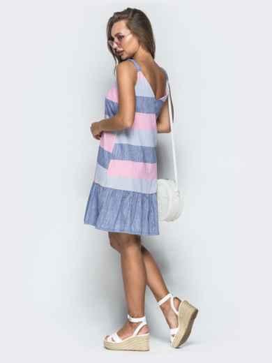 Платье в розовую полоску - 39327, фото 2 – интернет-магазин Dressa