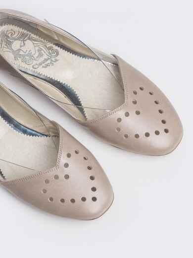 Пудровые балетки с силиконовыми вставками 47484, фото 1