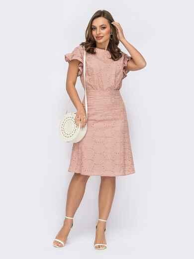 Костюм из блузки и юбка цвета пудры 53769, фото 1