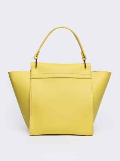 Вместительная сумка желтого цвета на клапане - 21457, фото 3 – интернет-магазин Dressa