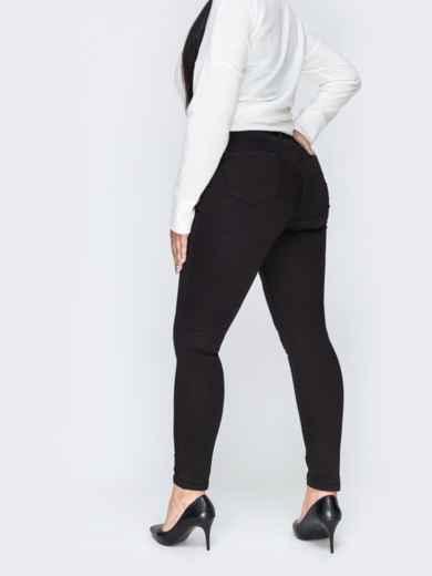 Чёрные джинсы со стандартной посадкой - 42454, фото 2 – интернет-магазин Dressa