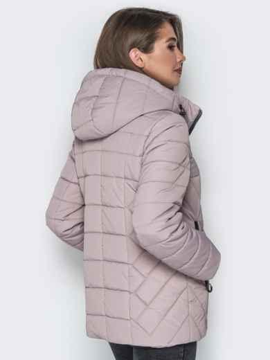 Бежевая куртка со съёмным капюшоном и карманами на молнии - 20299, фото 2 – интернет-магазин Dressa
