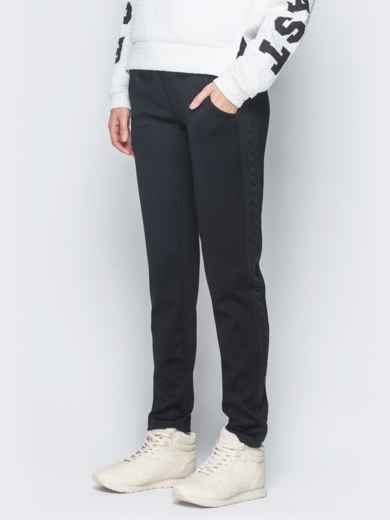 Брюки чёрного цвета с карманами по бокам 42970, фото 2