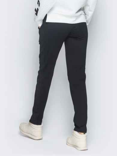 Брюки чёрного цвета с карманами по бокам 42970, фото 3