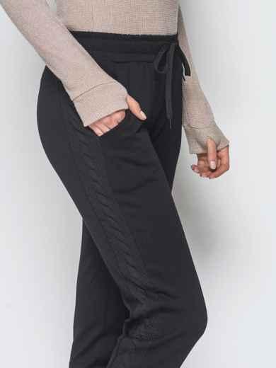 Брюки чёрного цвета с карманами по бокам 42970, фото 4