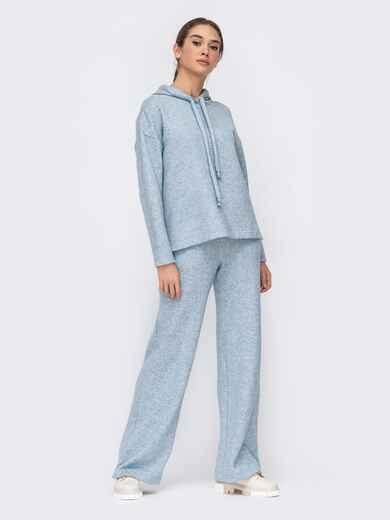 Голубой комплект из худи и широких брюк 52700, фото 1