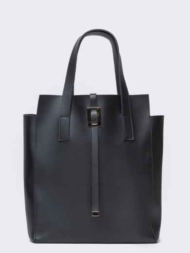Сумка-тоут чёрного цвета из эко-кожи - 21452, фото 2 – интернет-магазин Dressa