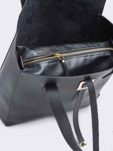 Сумка-тоут чёрного цвета из эко-кожи - 21452, фото 4 – интернет-магазин Dressa