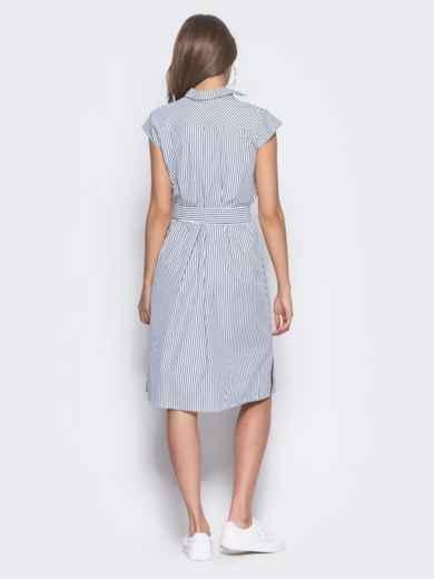 Платье в черную полоску с разрезами по бокам - 11343, фото 4 – интернет-магазин Dressa