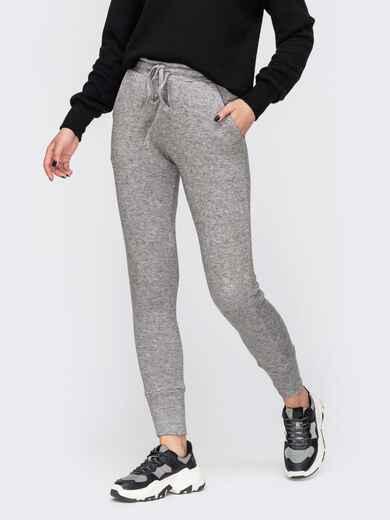 Зауженные брюки серого цвета со стандартной посадкой 51612, фото 1