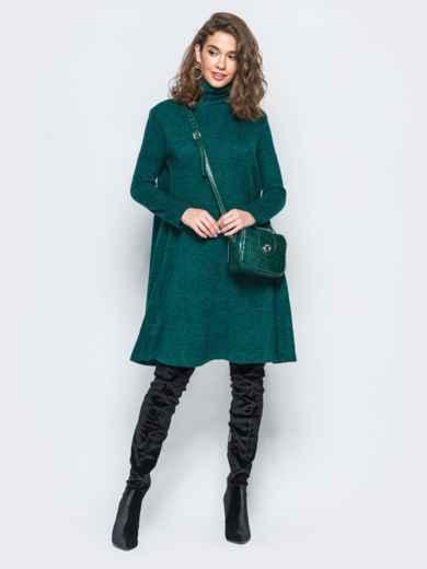 Платье свободного кроя из ангоры зелёное - 17254, фото 2 – интернет-магазин Dressa
