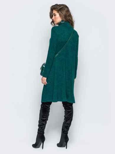Платье свободного кроя из ангоры зелёное - 17254, фото 4 – интернет-магазин Dressa