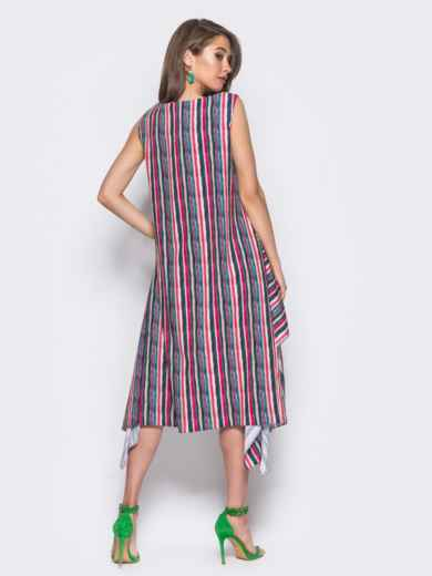 Красное платье расклешенное к низу - 11661, фото 3 – интернет-магазин Dressa