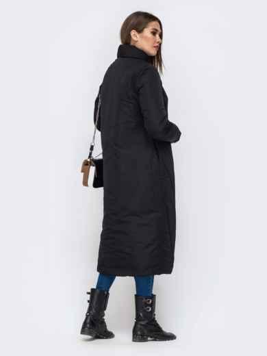 Демисезонная куртка чёрного цвета на кнопках - 41705, фото 2 – интернет-магазин Dressa