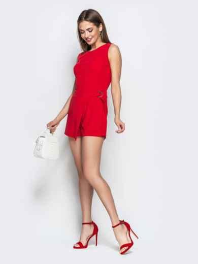 Красный комбинезон с юбкой-шортами - 21510, фото 2 – интернет-магазин Dressa
