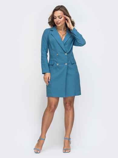 Платье-пиджак синего цвета 45543, фото 1