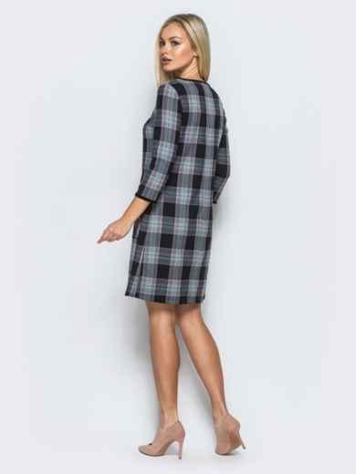 Платье из костюмной ткани в клетку с накладными карманами - 17572, фото 3 – интернет-магазин Dressa
