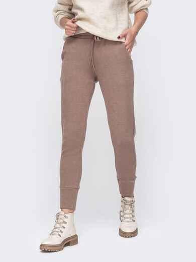Зауженные брюки бежевого цвета со стандартной посадкой 51614, фото 1