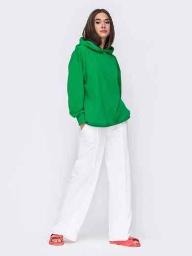 Костюм с зеленым худи и белыми брюками 53512, фото 1