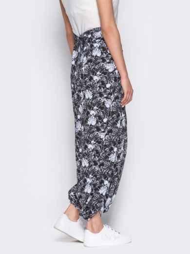 Принтованная юбка-трансформер черная - 12889, фото 2 – интернет-магазин Dressa