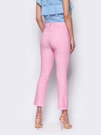 Розовые брюки со шлевками на поясе 10348, фото 3