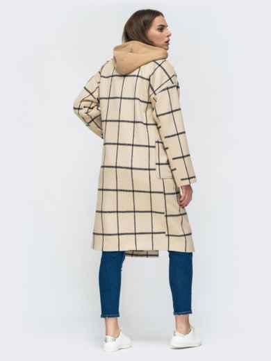 Двубортное пальто бежевого цвета в клетку - 45213, фото 4 – интернет-магазин Dressa