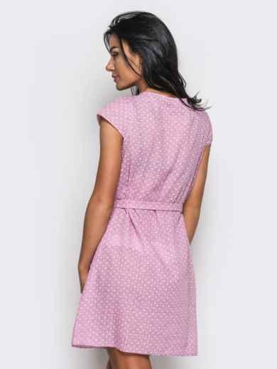 Принтованное платье из хлопка розовое - 12595, фото 3 – интернет-магазин Dressa