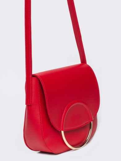 Сумка на плечо красного цвета - 22104, фото 2 – интернет-магазин Dressa