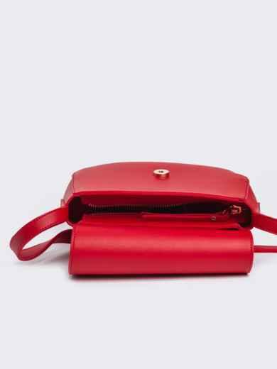 Сумка на плечо красного цвета - 22104, фото 4 – интернет-магазин Dressa