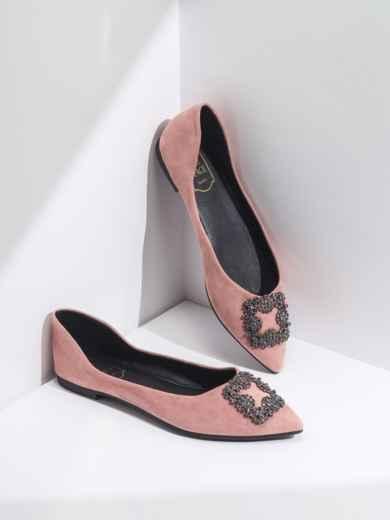 Балетки розового цвета с пряжкой 47487, фото 2