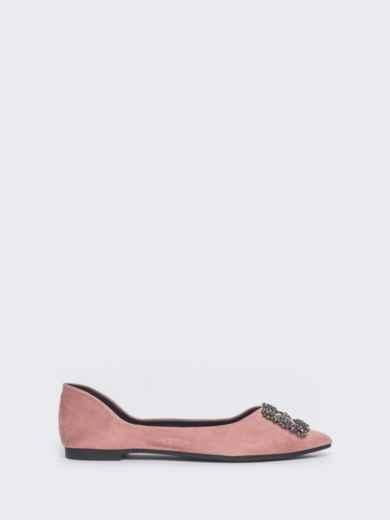 Балетки розового цвета с пряжкой 47487, фото 4