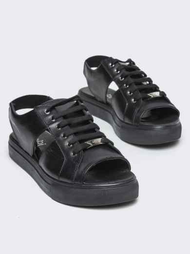 Спортивные сандалии чёрного цвета - 21419, фото 2 – интернет-магазин Dressa