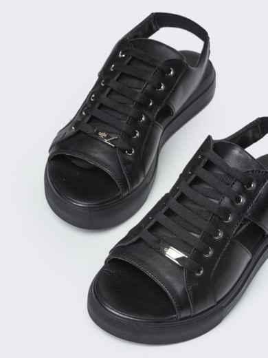 Спортивные сандалии чёрного цвета - 21419, фото 3 – интернет-магазин Dressa