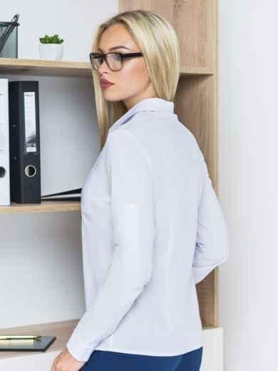 Блузка с украшением на кармане и длинными рукавами - 14190, фото 2 – интернет-магазин Dressa