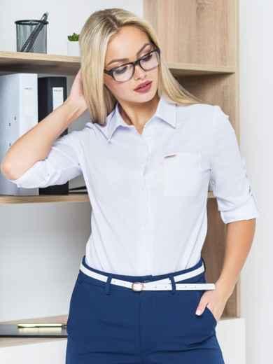Блузка с украшением на кармане и длинными рукавами - 14190, фото 3 – интернет-магазин Dressa