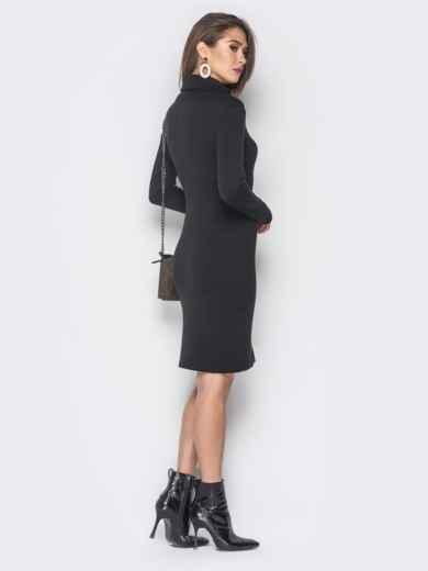 Платье-гольф черного цвета из ангоры - 18680, фото 3 – интернет-магазин Dressa