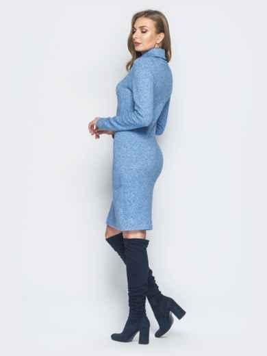 Платье-гольф голубого цвета из ангоры - 18682, фото 3 – интернет-магазин Dressa