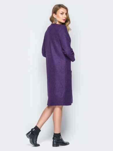 Фиолетовый кардиган из кашемира с карманами - 19986, фото 3 – интернет-магазин Dressa