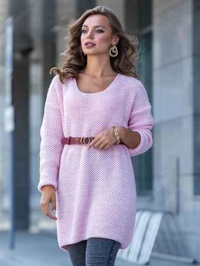 Розовая туника с удлиненной спинкой 41186, фото 1