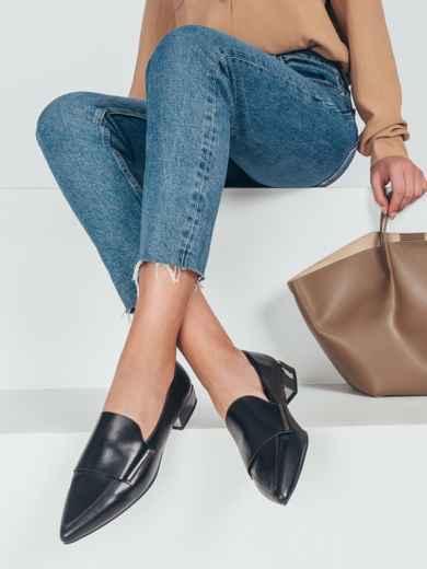 Туфли на низком ходу с узким носком 50591, фото 1