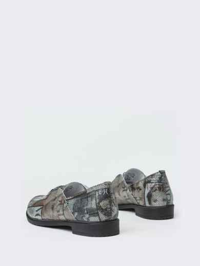 Серые туфли из натуральной кожи с принтом 41876, фото 4
