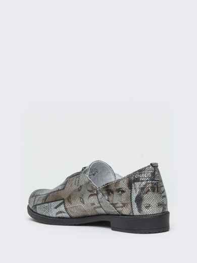 Серые туфли из натуральной кожи с принтом 41876, фото 6