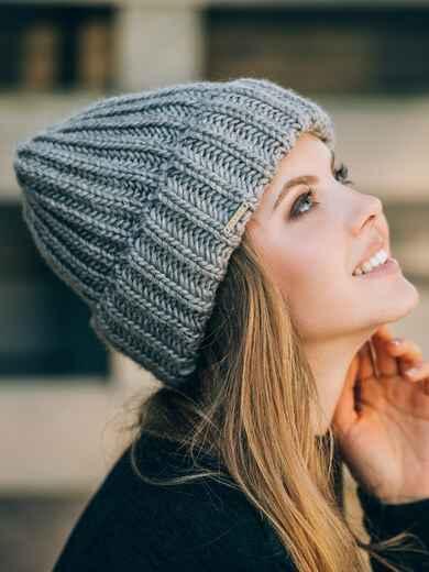 Тёмно-бежевая шапка без подкладки - 14752, фото 2 – интернет-магазин Dressa
