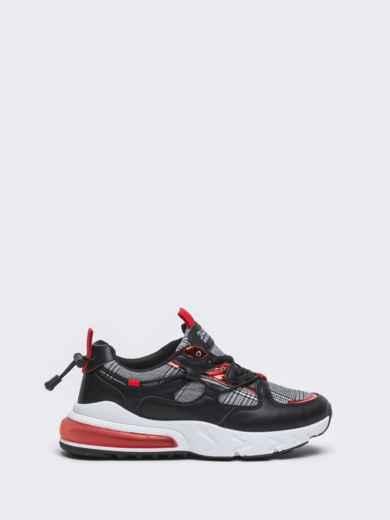 Кроссовки с контрастными вставками чёрные 50690, фото 3