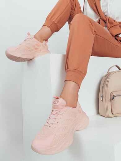 Кроссовки из искусственного материала розовые 50595, фото 1