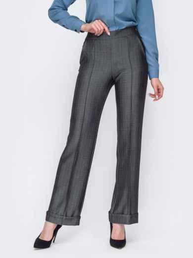 Серые брюки прямого кроя на молнии 53591, фото 1