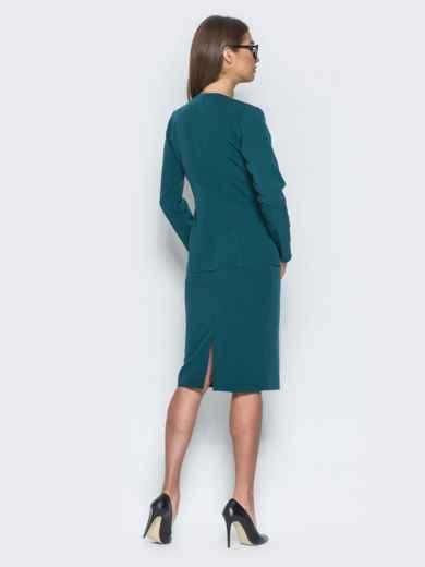 Комплект с жакетом на пуговице зелёный - 14485, фото 3 – интернет-магазин Dressa