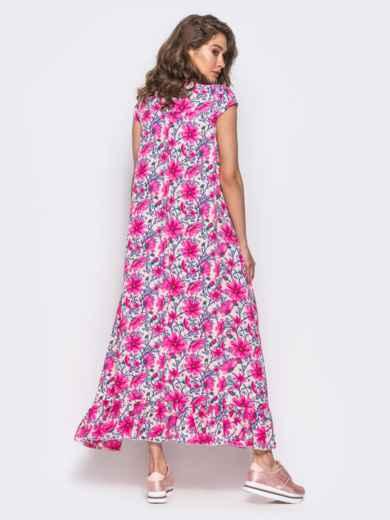 Платье в пол свободного кроя - 10983, фото 3 – интернет-магазин Dressa